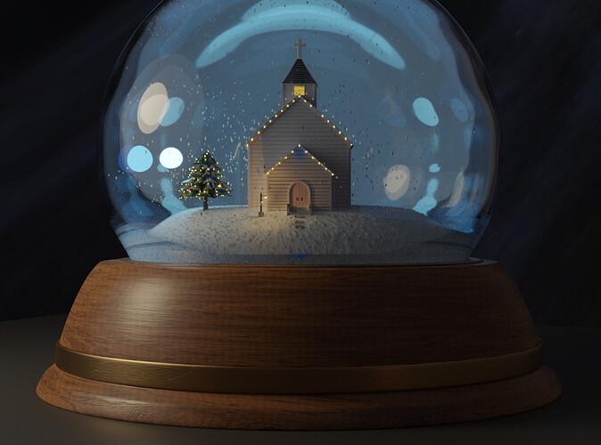 david.speer: Old Country Snow Globe
