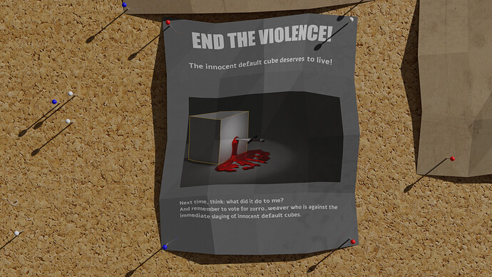 Default cube delete poster bulletin