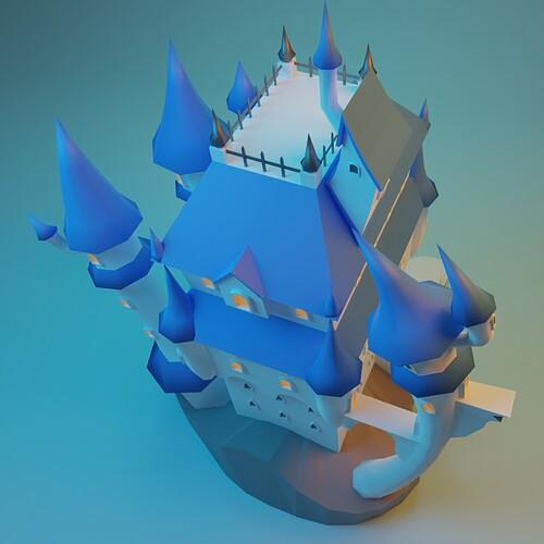 Stylized castle15