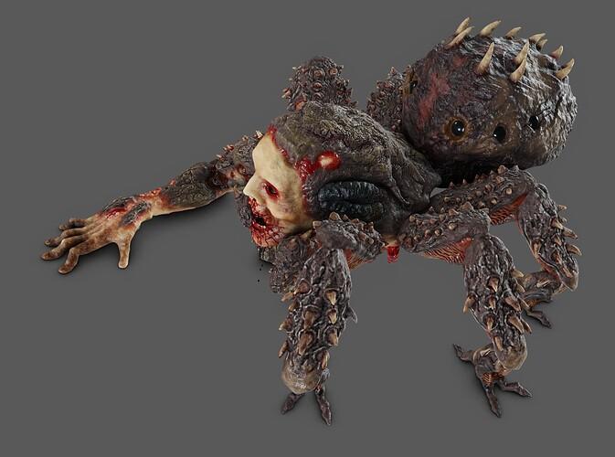 pająk render3