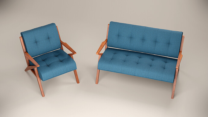 Package Sofa and armchair with cushions_05