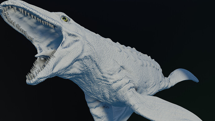 Mosasaurus clay