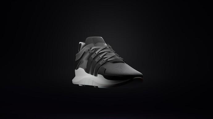 Adidas EQT ADV Black Near Front VIew