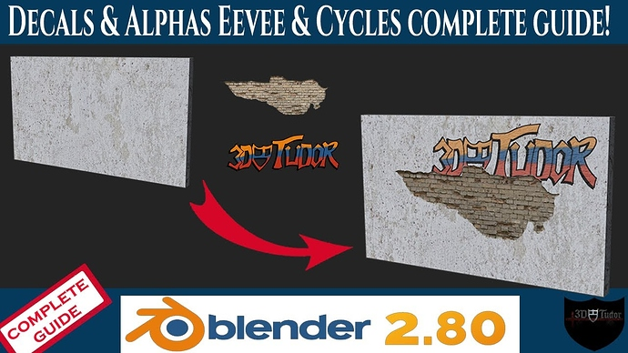 Decals and Alphas Complete Guide Blender 2.8 YouTube Image