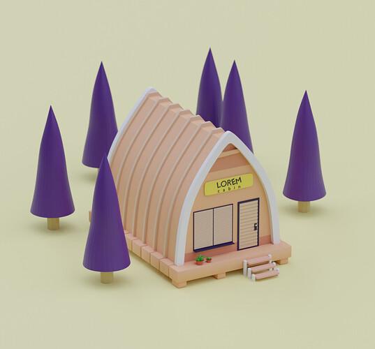 lowpoly cabin
