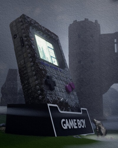Gameboy with Knight low anlge POST