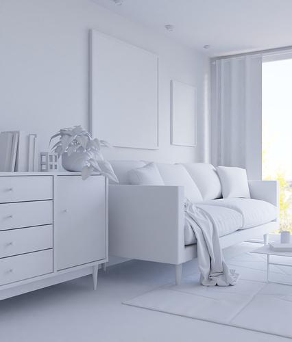 LivingroomClayRender2