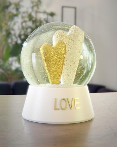 Snow globe - Love