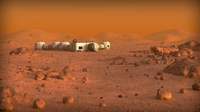 Martian Environment Final Render