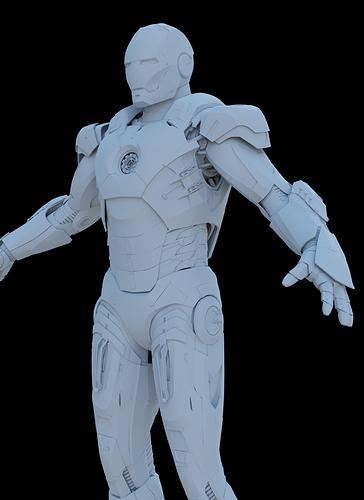 rendu_clay_iron man_02