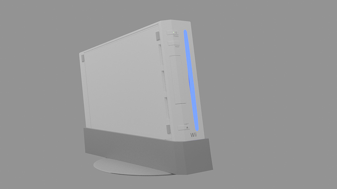 Wii Console Angle 3