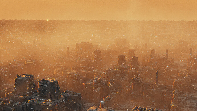 greeble city hybrid subdiv2px