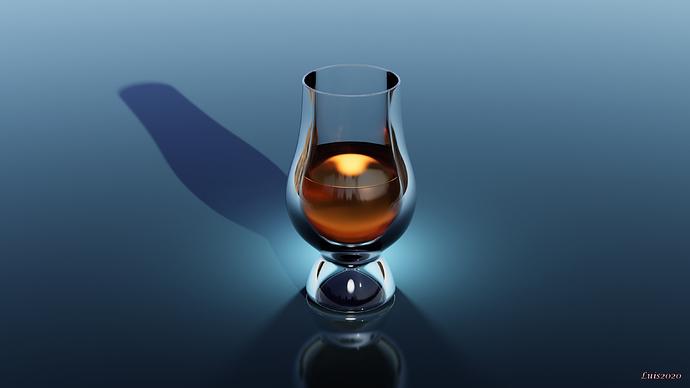 stylized whiskey glass small