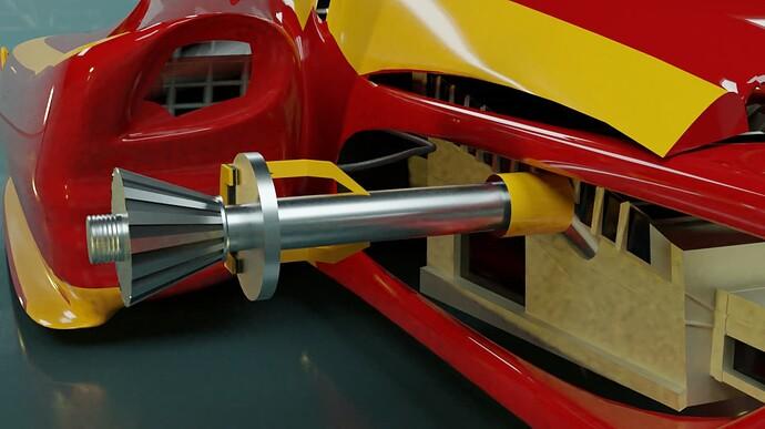 Rear axel and brake
