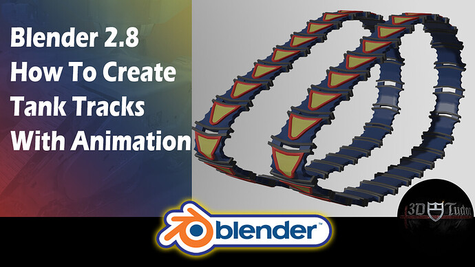 Blender 2.8 How to Create Tank Tracks With Animation YouTube