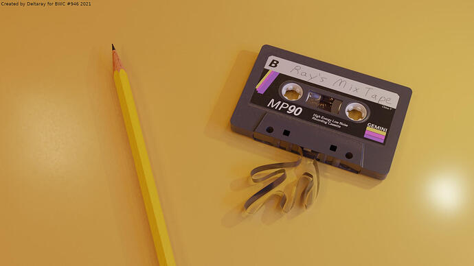 Casette-tape-and-pencil