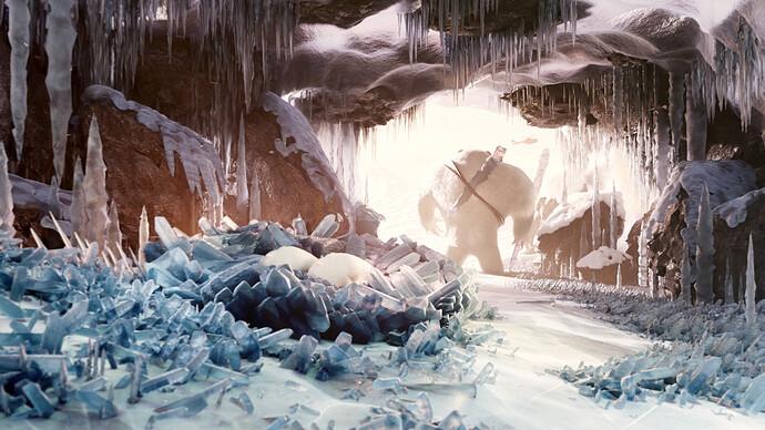 Snow creature - cave