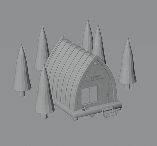 lowpoly cabin1