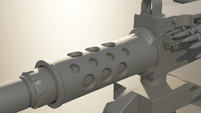 barrel support - clay