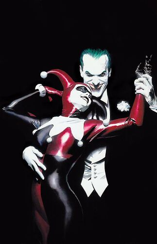 Joker and Harley by Alex Ross