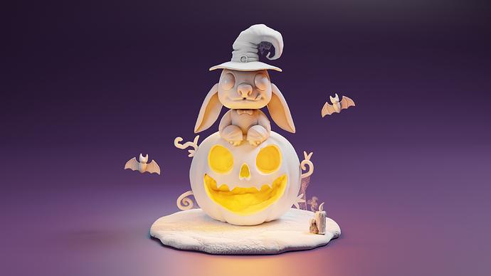 stich halloween clay