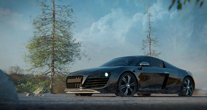 Audi_R8_snow