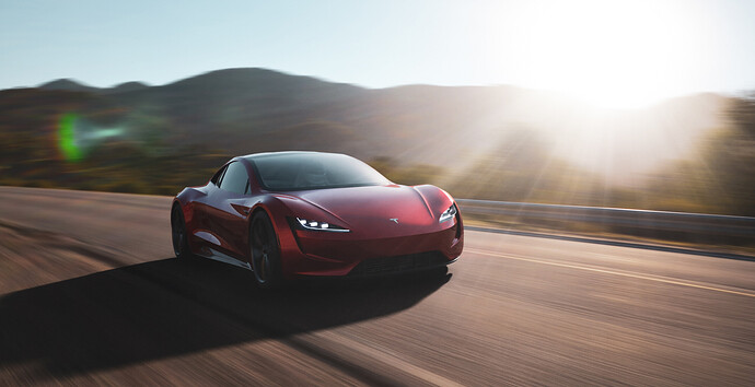 Tesla roadster - Luxcore - PDRA-4
