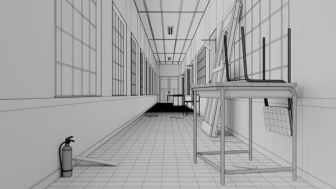 hallway wireframe 01
