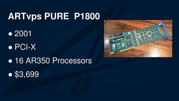 ARTvps+PURE+P+PCI-X+16+AR350+Processors+$3,699