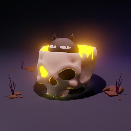 skull-cat