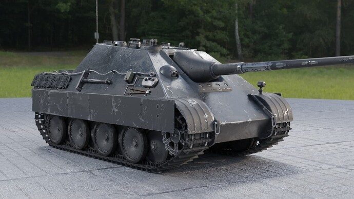 Weathered Jagdpanther (right front)