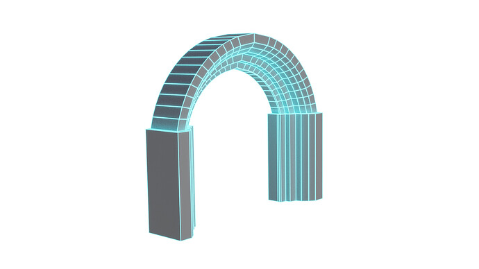 3D Model In Minutes Blender 2.9 Gothic Columns & Arches Wireframe