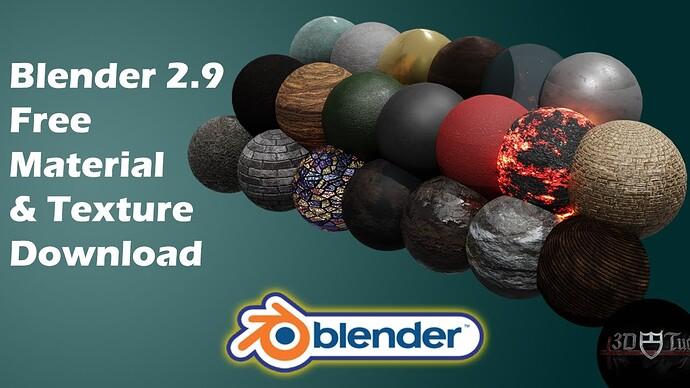 Blender 2.9 Free Material & Texture Download 🎁( Pack 1 )🎁