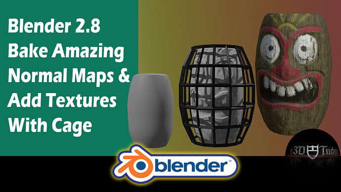 Blender 2.8 Bake Amazing Normal Maps & Add Textures With Cage Youtube