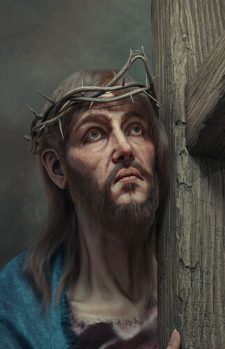 Christ carrying The cross_Detail1