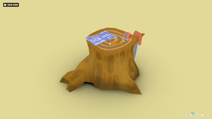 Sketchfab Model, Stump WorkBench@ModelMode