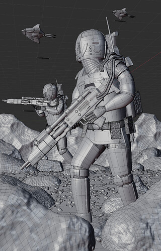 Advance Through Battle (Wireframe)