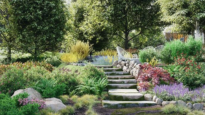 Blender Garden 3d  Sun3