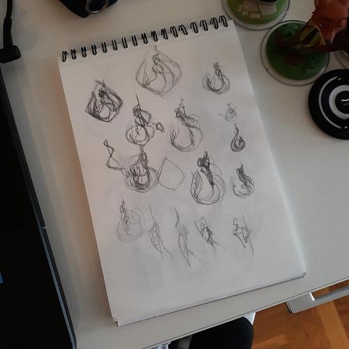 Hook Mermaid Sketch