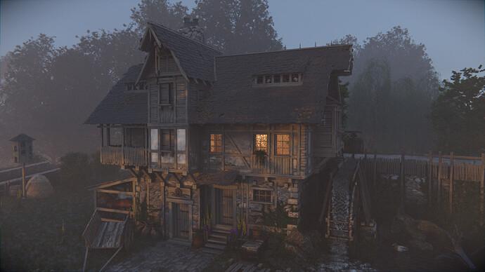 Watermill at morning