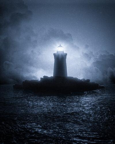 the lighthouse blue