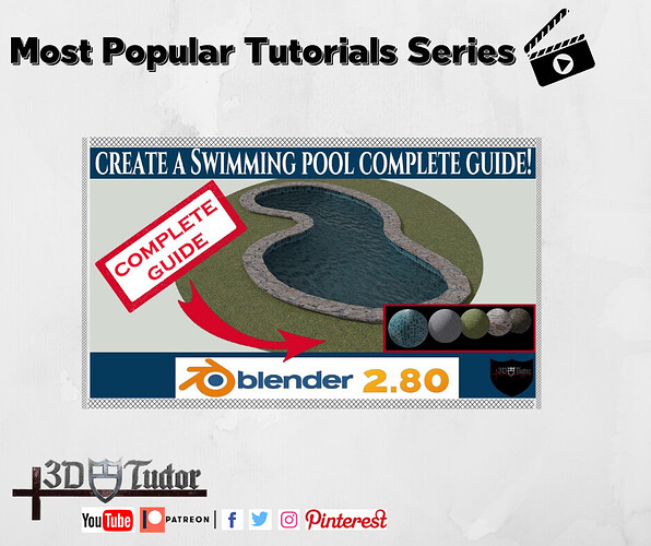 Blender 2.8 Create a Realistic Swimming Pool Most Popular Tutorial Series