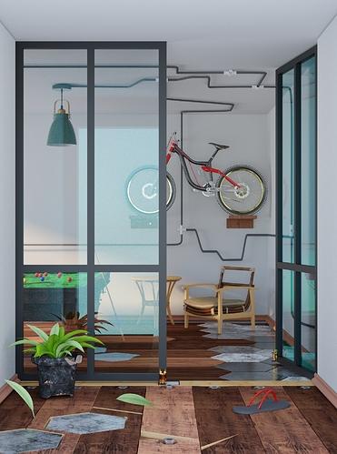 Mini recreational room