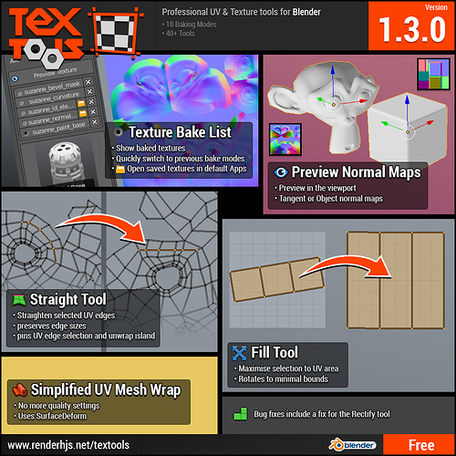 TexTools for Blender - Released Scripts and Themes - Blender Artists