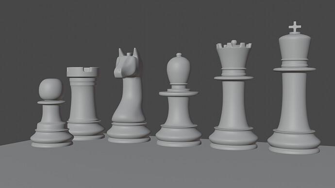 Chess set blank