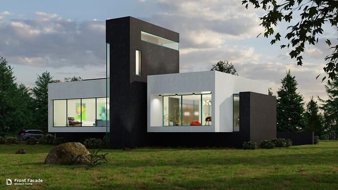 Modern Home - Front Facade