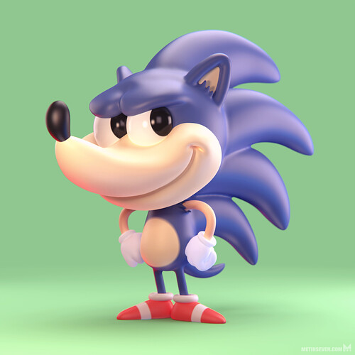 metin-seven_3d-modeler-toy-character-designer_sonic-the-hedgehog-cartoon-comic-stylized