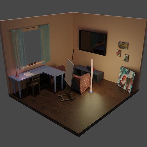 Hobby Room Render 2