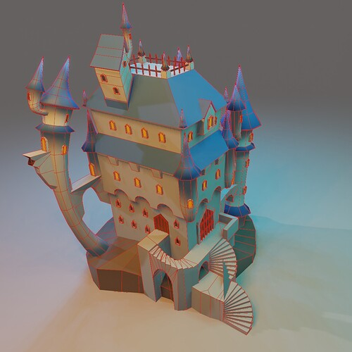 Stylized castle18