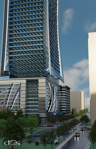 Office Tower @ West Peachtree & 12th Street view 2s